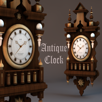 MI-Antique Wall Clock