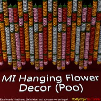 MI Hanging Flower Decor